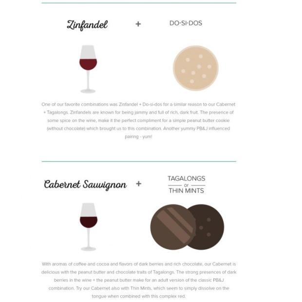Girl Scout Cookies and viaONEHOPEKim Wine Pairings